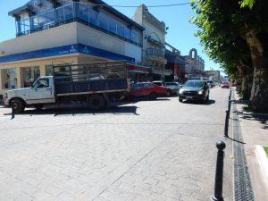 estacionar en la plaza