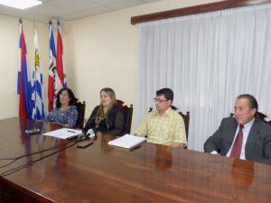 YANIRA CORSINI. ANDREA AVIAGA, MAURO ALVAREZ Y JULIO SANCHEZ