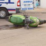 11.04.2019 Dos motos colisionaron en 18 de julio y De la Llana. El conductor de una de las motos debió ser trasladado a un Centro Asistencial